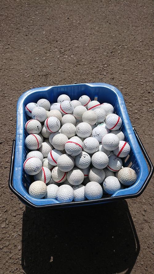練習場ボール補充!